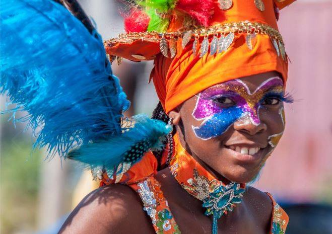 fille bleue carnaval guadeloupe